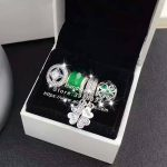 4pcs Fashion S925 Silver Green Clover CZ Dangle Charms Beads <b>Jewelry</b> Set Fit DIY Bracelet Necklaces <b>Jewelry</b> <b>Making</b> Woman Gift