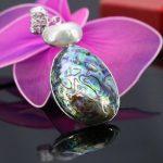 40*52mm Natural abalone sea shells colours paua shell beads stone stripe pendant decoration <b>jewelry</b> <b>making</b> design gift women