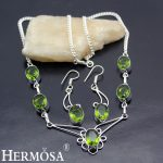 Peridot Green Jewelry Sets 925 Sterling <b>Silver</b> Earrings <b>Necklace</b> Set For Women NY769 Handcrafted Fashion Jewellry Grace Gift