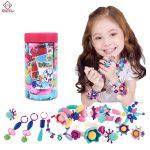 2018 Creative DIY Pop Beads for Children Girls Cordless Bead <b>Making</b> <b>Jewelry</b> Accessories Educational Children's Material Toys