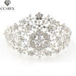 CC <b>Jewelry</b> tiaras crowns hair ornaments crystal bridal crown <b>wedding</b> hair accessories for women bride flower bridesmaeds 0324