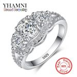 YHAMNI Fine <b>Jewelry</b> Solid 925 <b>Sterling</b> <b>Silver</b> Wedding Rings Set Sona CZ Diamant Engagement Rings Brand <b>Jewelry</b> for Bride AR173