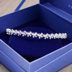 Butterfly Flower Style beauty AAA+ Cubic Zirconia head <b>jewelry</b> sparkling gold color tiaras and crowns for <b>wedding</b> H-005