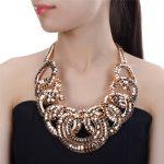JEROLLIN Bohemia Statement <b>Jewelry</b> Maxi <b>Handmade</b> Braided Rope Chunky Necklaces Beads Bib Chokers Neckalces Women