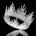 Luxury Rhinestone Round <b>Wedding</b> Queen King Crown For Bridal Tiaras And Crowns Bride Prom Diadem <b>Wedding</b> Hair <b>Jewelry</b> Accessories