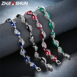 ZHJIASHUN Thai <b>Silver</b> Black Stone Sapphire <b>Bracelets</b> for Women 925 Sterling <b>Silver</b> Link <b>Bracelet</b> Fine Jewelry