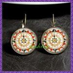 Aztec Summer Earrings Old World Map Compass Earrings <b>Native</b> <b>American</b> Earrings Aztec Inspired Compass Earrings <b>Native</b> <b>Jewelry</b>