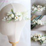Jonnafe Woodland Bridal Floral Hair Comb Handmade Wedding Hair Clip Accessories Women <b>Jewelry</b> Headpiece