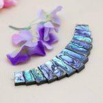 13parts Ladder Short Necklace Natural Abalone seashells sea shells Beads Pendent diy Design <b>making</b> <b>jewelry</b> women girls gifts