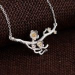 FNJ Flower Pendant Necklace for Women 45cm Chain 100% 925 Silver Accessorice S925 Thai Solid Silver <b>Jewelry</b> <b>Making</b> Necklaces