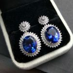 """TBJ,""""Party queen""""High quality Luxury Blue topaz <b>earring</b> for Party,Big gemstone <b>earring</b> in 925 <b>silver</b> for ladies with gift box"""