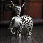 <b>Necklaces</b> & Pendants Elephant Real Pure 925 Sterling <b>Silver</b> Retro Vintage Ethnic Amulets And Talismans Ganesha Charms Colgantes