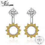 JewelryPalace 6ct Orange Created Sappire&Pink Created Sapphire Stud <b>Earrings</b> For Woman Real 925 Sterling <b>Silver</b> Fine Jewelry