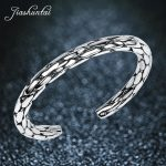 JIASHUNTAI Retro 990 <b>Sterling</b> <b>Silver</b> Bangles For Women <b>Jewelry</b> Snake Skin Design Female Handmade Best Gift