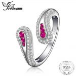 JewelryPalace Rabbit Ears Created Ruby Open Adjustable Ring 925 Sterling <b>Silver</b> Fine <b>Jewelry</b> Fashion Party Rings For Women Gifts