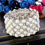 Bella Fashion 3 Colors Heart Bridal Bracelet Austrian Crystal Rhinestone Elastic Bracelet Stretch <b>Wedding</b> Women Party <b>Jewelry</b>