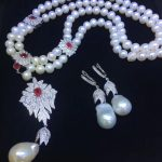 jewelry set natural pearl necklace and drop <b>earring</b> gemstone jewelry 925 sterling <b>silver</b> party necklace double layers fine jewel