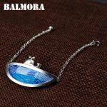 BALMORA Genuine 990 Pure Silver <b>Handmade</b> Embroidery Bracelets for Women Lady Gift about 18.5cm Long <b>Jewelry</b> Esposas SY40345