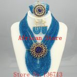 Lovely Purple Single African Women Beads <b>Jewelry</b> Set Nigerian African Beaded Necklace Set <b>Handmade</b> Style Free Shipping SD802-10