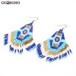 Go2boho Dropshipping Boho Earrings Women MIYUKI Seed Beads Long Earrings Beadwork <b>Native</b> <b>American</b> Earring <b>Jewelry</b> Gift HandWoven