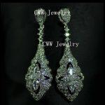 CWWZircons Luxury <b>Wedding</b> <b>Jewelry</b> White Gold Color White CZ Crystal Long Bridal Drop Earrings For <b>Wedding</b> Dress CZ102