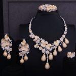 GODKI Luxury Flower Bud 3 Tone Women Nigerian Wedding Bride Cubic Zirconia <b>Necklace</b> Dubai 4PCS <b>Jewelry</b> Set Jewellery Addiction