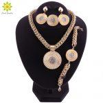 Big <b>Jewelry</b> Sets For Women Wedding African Beads <b>Jewelry</b> Set Crystal Pendant <b>Necklace</b> Earrings Indian Ethiopian Jewellery