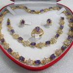 Prett Lovely Women's Wedding fast shipping>>women's <b>jewelry</b> gem yellow Necklace Bracelet Earring Ring sets silver <b>jewelry</b>