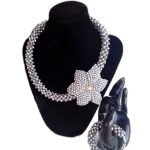 Jewelry Set <b>Silver</b> Handmade Flower Costume Jewellery African Necklace Set Free Shipping Dubai Jewelry Sets For Women 2018 new