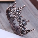Vintage Baroque Tiara Vintage Geometric Beads Tiaras Crowns Hairband Royal Queen Headband for Women Christmas Party Hair <b>Jewelry</b>