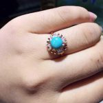 Natural green turquoise Ring Natural gemstone Ring 925 <b>sterling</b> <b>silver</b> trendy Elegant sunflower women's party fine <b>Jewelry</b>