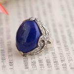 FNJ 925 <b>Silver</b> Lapis Lazuli Ring for Women <b>Jewelry</b> Natural Blue Stone New Fashion 100% Pure S925 <b>Silver</b> Ring USA Size 6-8