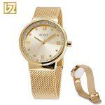 Women Watches BINZI Quartz Ladies Wrist Watch Clock relogio feminino montre femme Women's Rose Gold <b>Silver</b> Wristwatch 2018 New