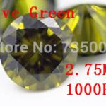 <b>Jewelry</b> <b>Supplies</b> AAA Grade CZ Cubic Zirconia Olive Green Round Zircon 2.75MM DIY <b>Jewelry</b> Findings <b>Supplies</b> Free Shipping