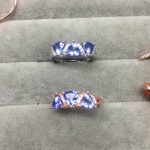 Natural blue tanzanite Ring Natural gemstone ring 925 <b>sterling</b> <b>silver</b> trendy elegant array women's girl gift <b>Jewelry</b>