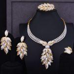 GODKI Luxury Leaf Leaves Lariat Women Wedding Cubic Zirconia Choker <b>Necklace</b> Earring Dubai <b>Jewelry</b> Set Jewellery Addiction