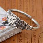 Deer King <b>jewelry</b> bracelet wholesale S999 Sterling Silver Silver <b>Handmade</b> antique <b>jewelry</b> craft female opening