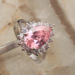 <b>Handmade</b> Pear Multigems Pink Cubic zirconia 925 Sterling Silver Trendy Women's Party <b>Jewelry</b> Rings Size 6 7 8 9 S1410