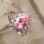 <b>Handmade</b> Pear Multigems Pink Cubic zirconia 925 Sterling Silver Trendy Women's Party <b>Jewelry</b> Rings Size 6 7 8 9 S1410