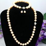 Pink pearl necklace sets flower clasp 8-9mm necklace 18″bracelet 7.5″ earring 2pc/lot women <b>jewelry</b> <b>making</b> design gift