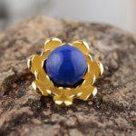 FNJ 925 Silver Flower Pendant 100% Pure S925 Solid Thai Silver Natural Lapis Lazuli Pendants for Women <b>Jewelry</b> <b>Making</b>