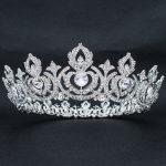 Real Austrian Crystal Rhinestone Bridal Full Princess Tiara Crown Diadem Women <b>Wedding</b> Hair Accessories <b>Jewelry</b> SHA8642