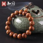 2017 fashion natural fragrance Jinzhong Bo luxury high-quality Buddha beads bracelet <b>necklace</b> men's jewelry aging of the old mat