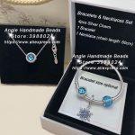 6pcs Fashion <b>Jewelry</b> Set 925 Silver Ice Crystal Blue Series CZ Dangle Charm and Bracelet Necklaces Set <b>Jewelry</b> <b>Making</b> Woman Gift