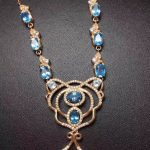 Natural blue topaz gem Necklace Natural gemstone Pendant Necklace S925 sliver Luxurious grace crown woman party gift <b>Jewelry</b>