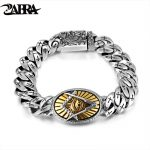 ZABRA Genuine 925 <b>Silver</b> Eye Of Horus Men <b>Bracelet</b> Punk Rock Gold Vintage Flower Cross Sterling <b>Silver</b> <b>Bracelets</b> Man Jewelry