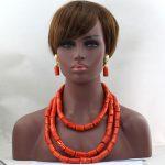 Splendid Coraline Nigerian Wedding Coral Beads <b>Jewelry</b> Set African Costume <b>Jewelry</b> Sets Coral Necklace Set <b>Handmade</b> hx330