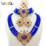 New Wedding African <b>Jewelry</b> Sets for women fashion <b>jewelry</b> 2018 Gold-color Nigerian Beads <b>Jewelry</b> Set <b>Necklace</b> ring earrings