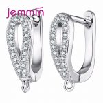 Jemmin Top Quality 925 Sterling <b>Silver</b> Hoop <b>Earrings</b> DIY Findings <b>Earring</b> Fine Jewelry Accessories For Women Girls Party