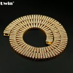 New Arrival Hot Sale Gold <b>Silver</b> Black Plated 4 ROW Iced Out Lab cz stone Tennis Hip Hop <b>Necklace</b> High Quality For Men